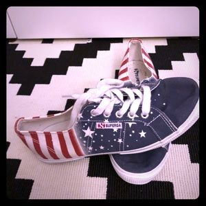 Superga American Flag sneakers red white blue